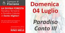 La Divina Foresta - Paradiso Canto III