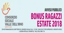Bonus Estate Ragazzi 2018